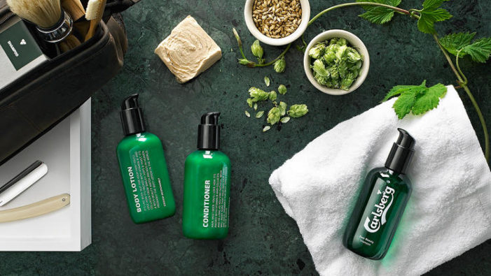 Carlsberg Launching a Line of Men's Grooming Products Made with Beer