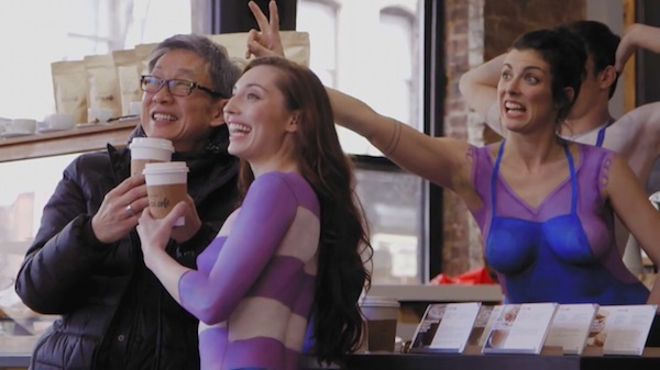 'Nude' Baristas Serve Up Coffee To Promote Nestlé's All-Natural Creamer