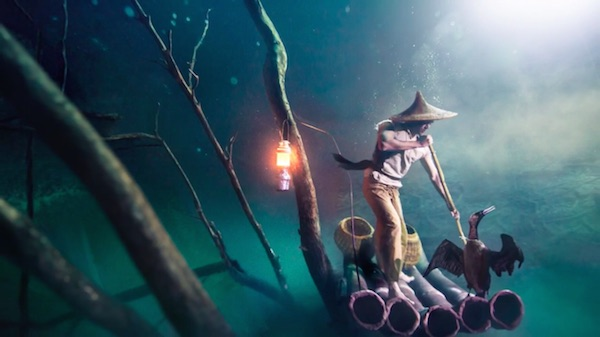 Benjamin Von Won Dives Into Toxic Water to Get the Perfect Shot for Ballantine's