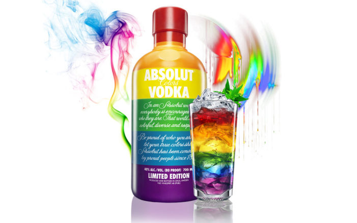 Absolut 'Raises A Glass To Love' With Limited Edition Rainbow Coloured Bottle