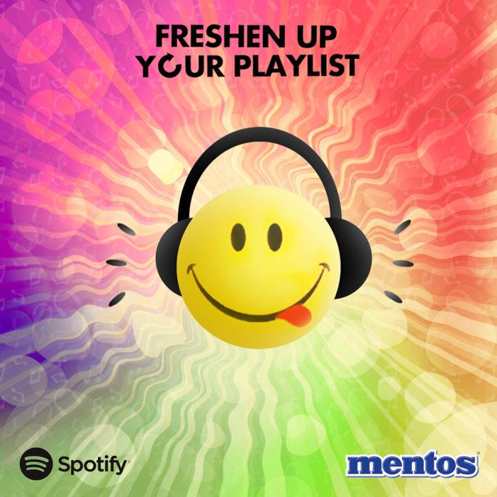Mentos & Spotify Freshen Up UK Playlists