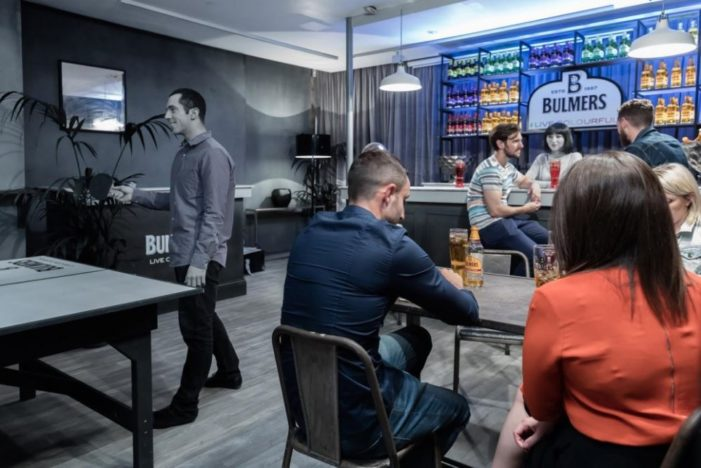 UK Cider Brand Bulmers Open a Bar Stripped of All Colour