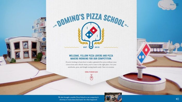 Domino's Takes Jab at Pizza Hut with 'Pizza School' Site