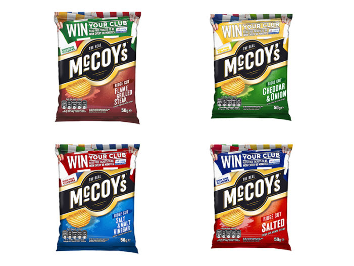 McCoy's Scores Again with New Football League On-pack Promotion