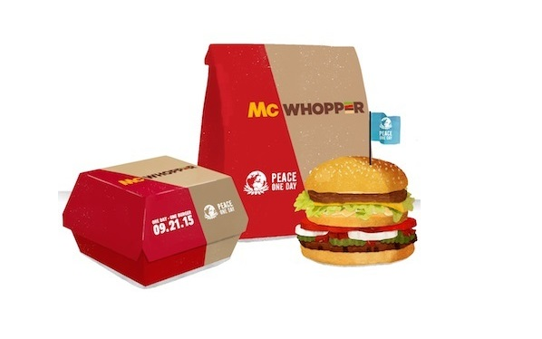 Burger King Suggests a Hybrid 'McWhopper' as a 'Truce' with McDonald's