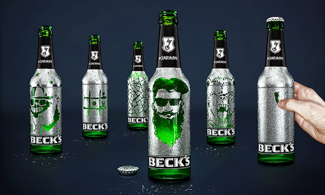 BECK's Bottles with Scratch-Away Labels Allow You to Etch Drawings
