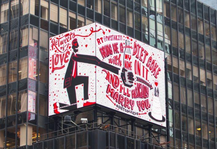 Diet Coke Turns Fan Tweets into Artwork on Billboard in Times Square