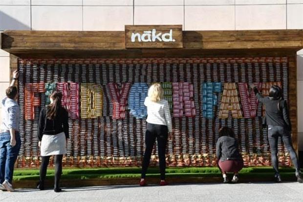 Nakd Erects an Edible Advert to Get Consumers Trying its Goodies