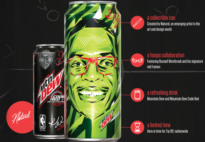 Mtn Dew & Russell Westbrook Mark NBA's Return with New Collectible Can