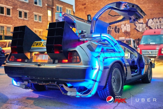 Hitch a Ride Back to the Future with Pepsi Max's Uber DeLorean