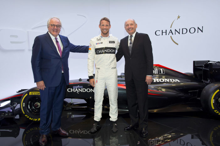 Chandon Becomes Official Partner of the McLaren Honda F1 Team