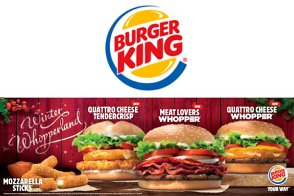 Burger King Spreads Christmas Cheer with New Winter Whopperland Menu