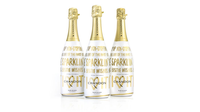 ButterflyCannon Create Festive Holiday Bottle for Chandon