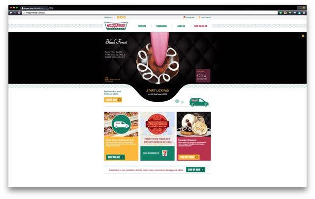 Digital Arts Network Helps Krispy Kreme Australia Unveil New Website