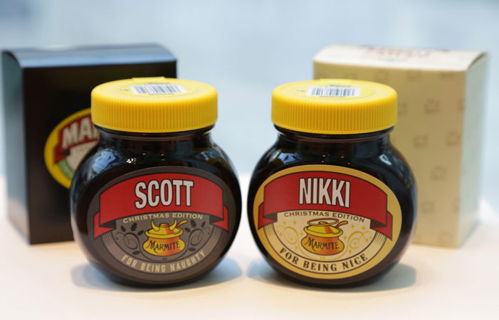 Marmite Unveil Limited Edition Christmas Jars Designed by Hornall Anderson