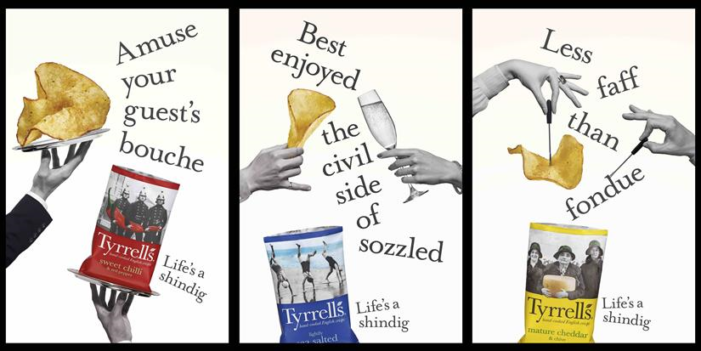 Tyrrells Coins 'Life's A Shindig' Slogan For First-Ever Ad Campaign
