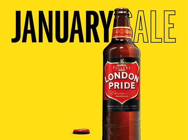 Fuller's Echoes Selfridges, Harrods & John Lewis with 'January Ale' Push