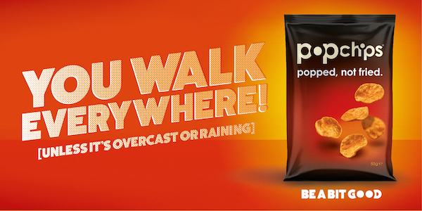 Popchips Recognises 'Tokenistic' Efforts of Brits to Stay Healthy