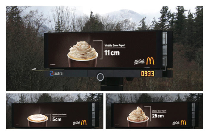 McDonald's Clever Hot Beverage Billboard Doubles As A Snow Report