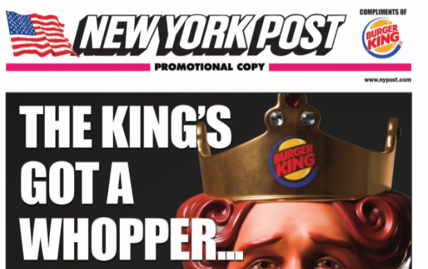 Burger King Hijack Newspapers in the US to Promote New Hot Dogs