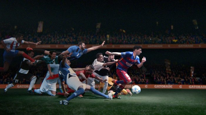 Lionel Messi Keeps Moving for Gatorade Global Push by TBWA/Chiat/Day