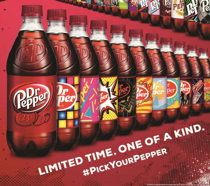 Dr Pepper Launching Unique Label Designs on 20oz Bottles this Summer