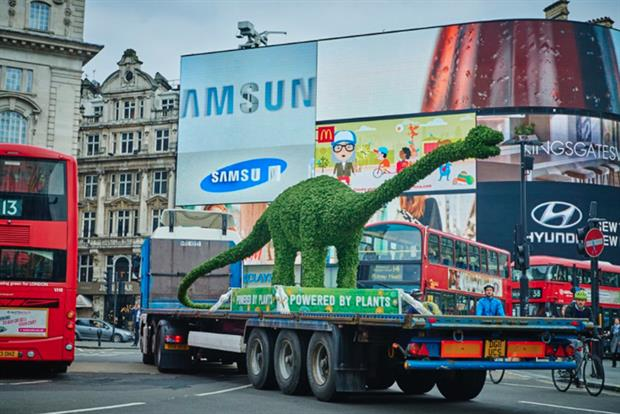 Flora Kicks off New Campaign with 750kg Dinosaur Made of Plants