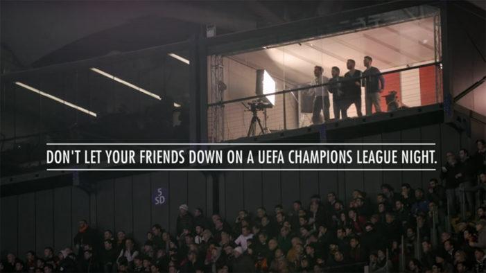 Heineken Stages 'Don't Let Your Friends Down' Champions League Stunt