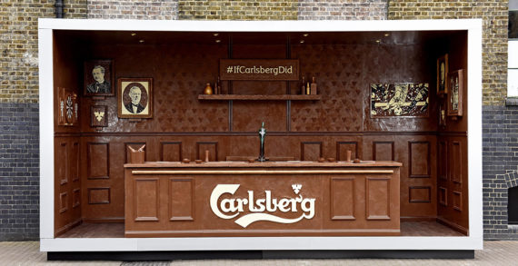Carlsberg Creates Pop-up Bar Made from Real Chocolate in Latest Stunt