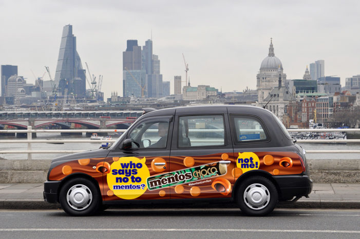 London Cabs Can't Say No To Mentos