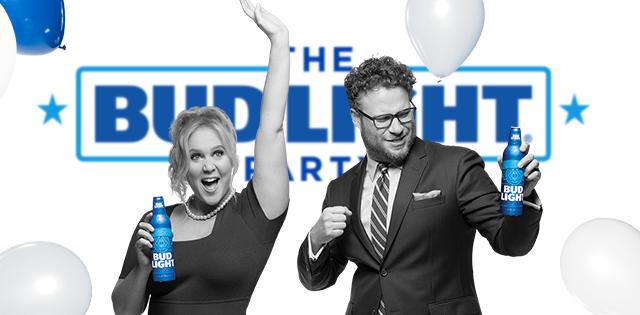 Amy Schumer & Seth Rogen Kick Start the Debate in Latest Bud Light Ad