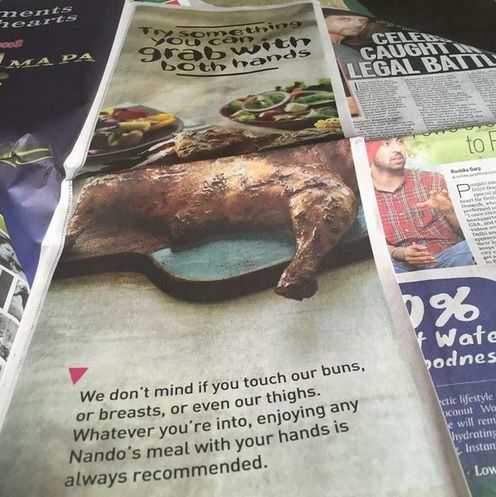 Sexist Indian Nando's Newspaper Ad Goes Viral