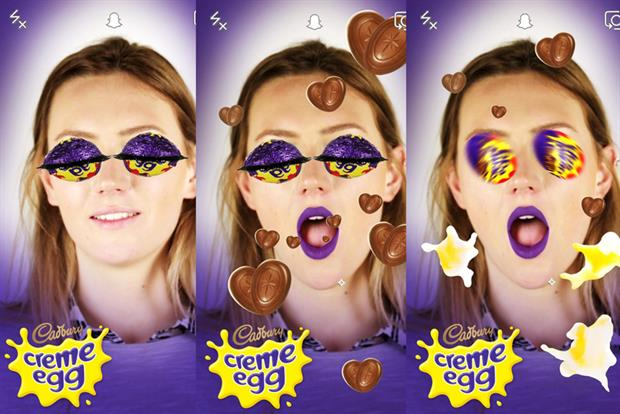 Cadbury Eggs on Fans to Celebrate Easter with Snapchat Sponsored Lens