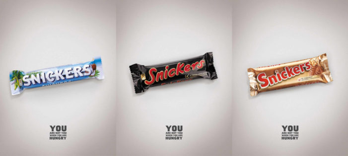 Snickers Gets Wrapped Up Like Other Candy Bars in Latest Ads