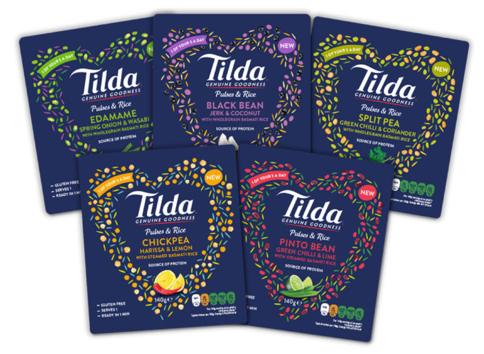 Tilda Launches New Pulses & Rice Pouches