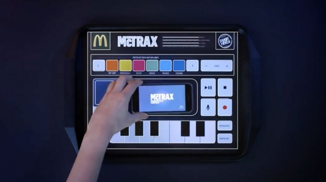 McDonald's Smart Tray Liners Let Diners Mix Their Own Tunes