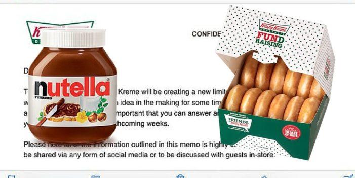 Krispy Kreme's 'Leaked' Memo Suggesting Nutella Filling Goes Viral