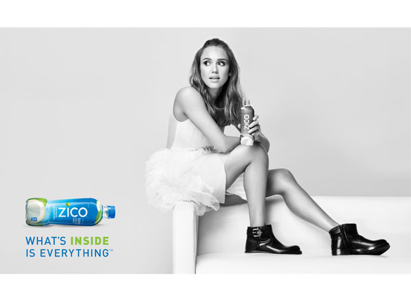 Jessica Alba Reminds Viewers 'What's Inside is Everything' in Ad for Zico