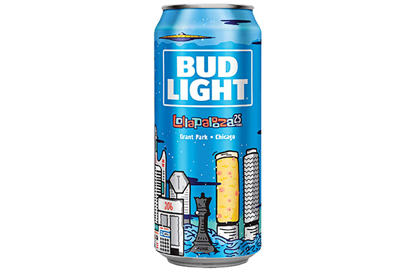 Bud Light Unveil Limited Edition Cans For Lollapalooza