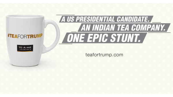 Indian Tea Brand TE-A-ME Attempts to Purify Donald Trump