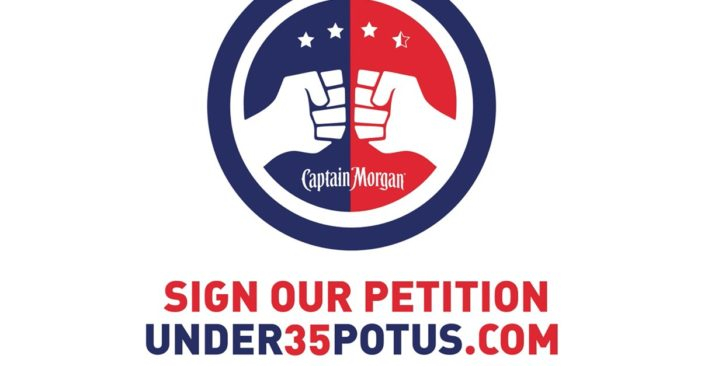 Captain Morgan Asks the US to Allow Under 35s to be President