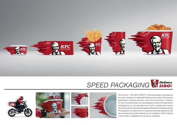 KFC Thailand Creates Packaging to Convey the Message of Speed