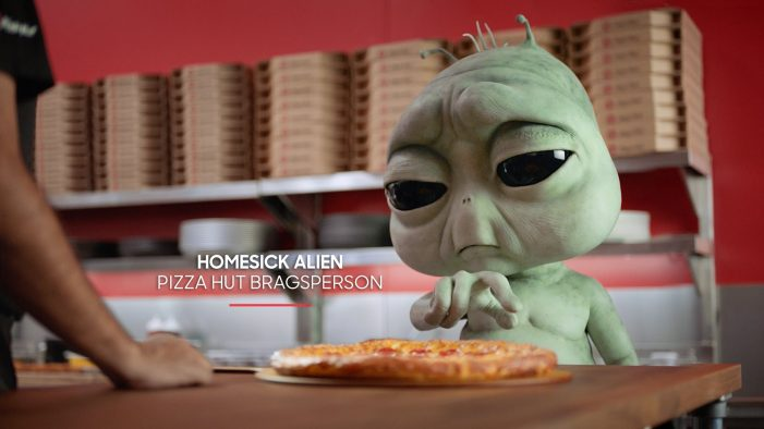 Droga5's First Work for Pizza Hut Lets Homesick Aliens Do the Bragging