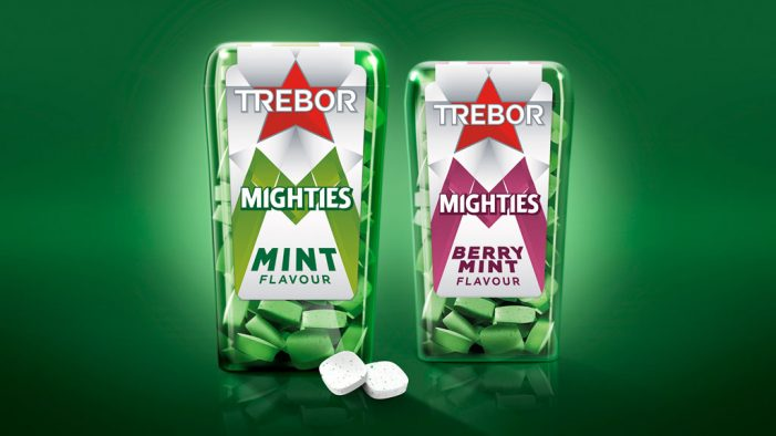 New Trebor Mighties Pack a Bold & Minty Punch with Design by Bulletproof