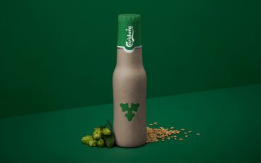 Carlsberg Unveils New Green Fiber Bottle Design