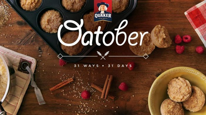 Quaker's Month-Long 'Oatober' Campaign Includes 31 Different Oat Recipes