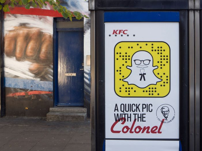 Discover the Colonel's Snapchat Secret on High Streets in the UK