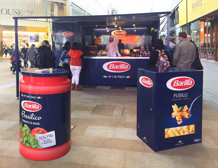 Space Chosen by Pasta Brand Barilla for UK-wide Experiential Tour