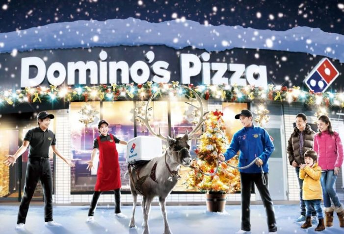 Domino's Trains Reindeer to Deliver Pizza for Christmas in Japan