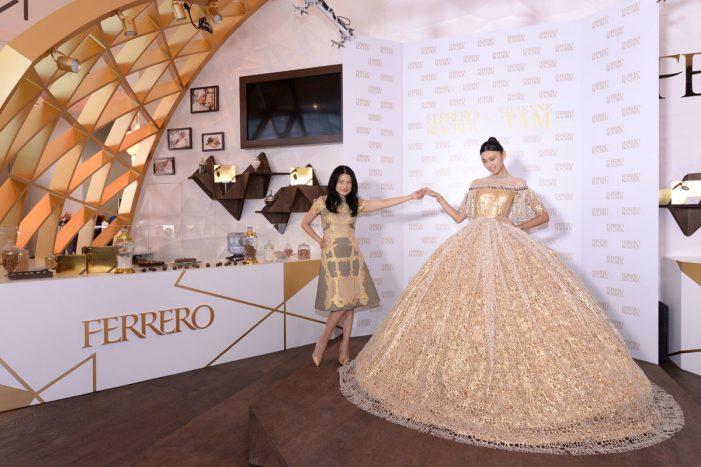 Designer Vivienne Tam Creates Ferrero Rocher-inspired Gown for Christmas